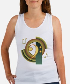 Bass Clef Deco Women's Tank Top