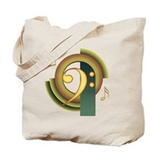 Bass Clef Deco Tote Bag