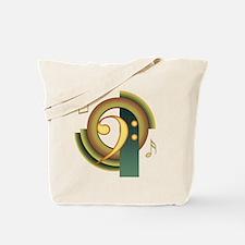 Bass Clef Deco Tote Bag