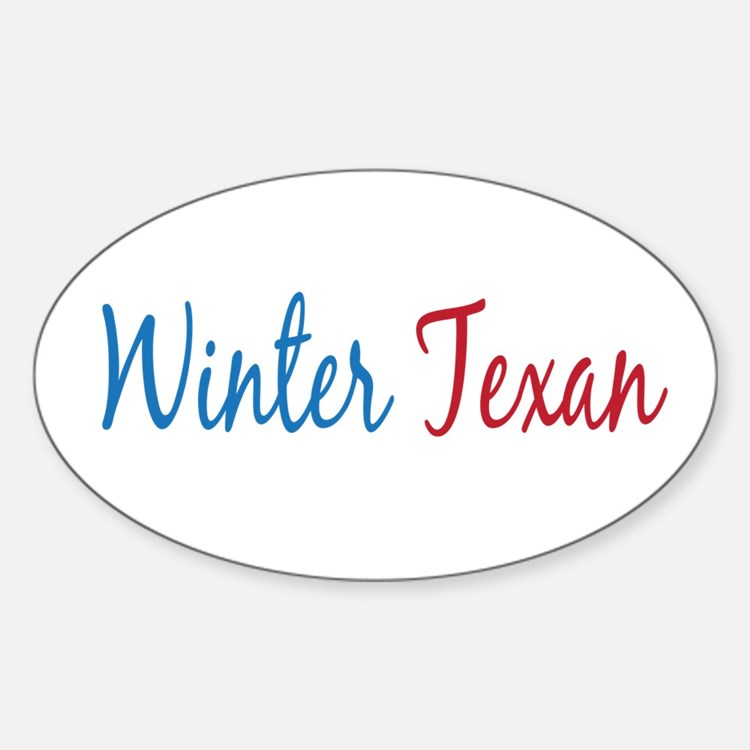 Winter Texan Oval Decal