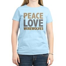Peace Love Werewolves Twilight T-Shirt