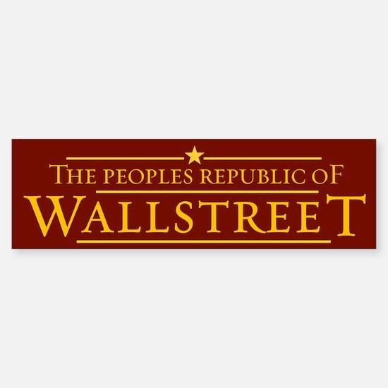 People's Republic of Wallstreet Bumper Bumper Bumper Sticker