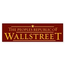 People's Republic of Wallstreet Bumper Bumper Sticker