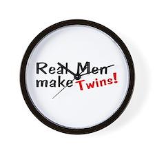 Real Men Make Twins Wall Clock