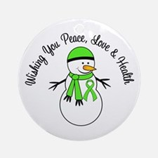 Christmas Snowman Lymphoma Ornament (Round)