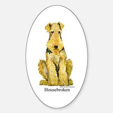 Housebroken Oval Decal