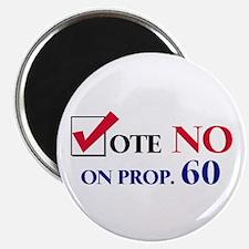 Vote NO on Prop 60 Magnet