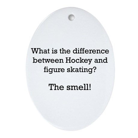 The Smell-black Oval Ornament