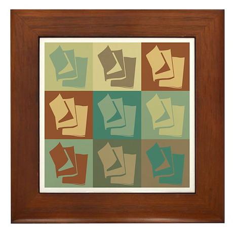 Publishing Pop Art Framed Tile
