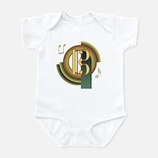 Alto/Tenor Clef Deco Infant Bodysuit