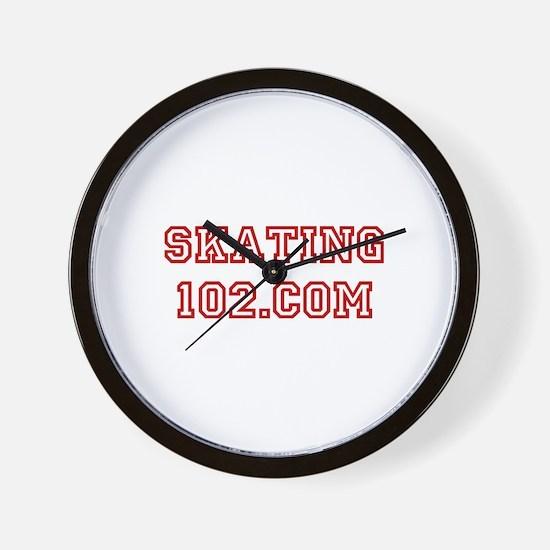 Skating102.com-red Wall Clock