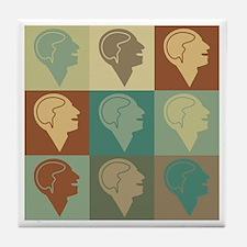 Psychology Pop Art Tile Coaster