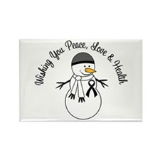 Christmas Snowman Melanoma Rectangle Magnet