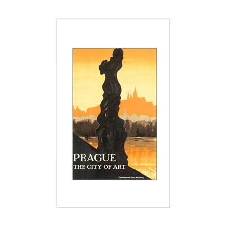 Prague Czech Republic Rectangle Sticker