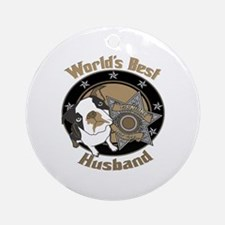 Top Dog Husband Ornament (Round)