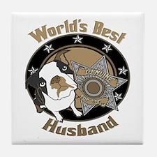 Top Dog Husband Tile Coaster