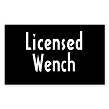 """""""Licensed Wench"""" Rectangle Decal"""