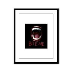 Bite Me Framed Panel Print
