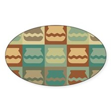 Pottery Pop Art Oval Decal