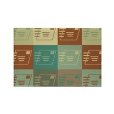 Postal Service Pop Art Rectangle Magnet