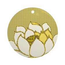 Lotus Flower Hasu Ornament (Round)