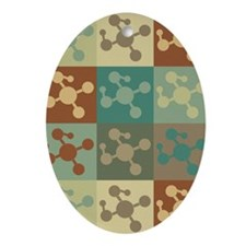 Polymer Chemistry Pop Art Oval Ornament