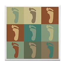 Podiatry Pop Art Tile Coaster