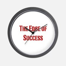 The edge of success-red Wall Clock