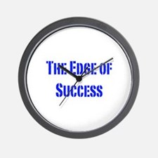 The edge of success-blue Wall Clock