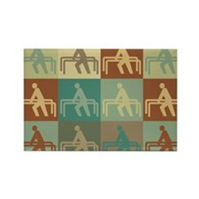 Physical Therapy Pop Art Rectangle Magnet (10 pack