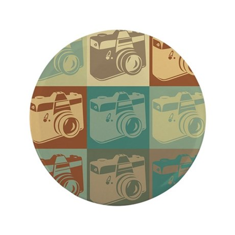 "Photography Pop Art 3.5"" Button"