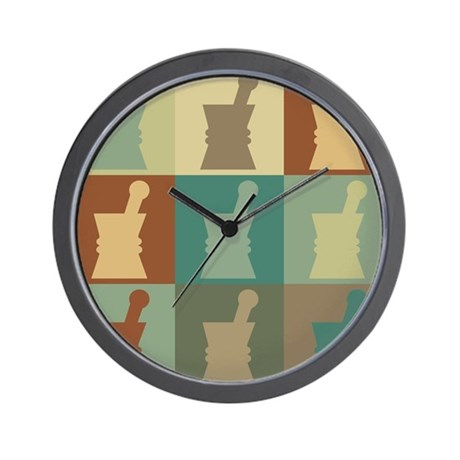 Pharmacology Pop Art Wall Clock