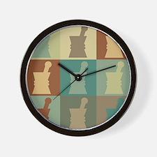 Pharmacology Pop Art Wall Clock