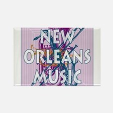 Purple New Orleans Music #2 Rectangle Magnet