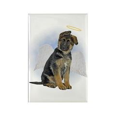 Angel German Shepherd Puppy Rectangle Magnet