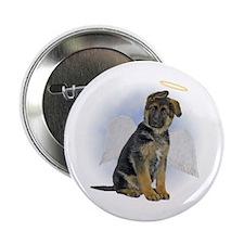 """Angel German Shepherd Puppy 2.25"""" Button"""