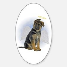 Angel German Shepherd Puppy Oval Decal