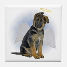 Angel German Shepherd Puppy Tile Coaster