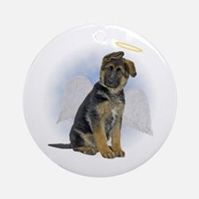 Angel German Shepherd Puppy Ornament (Round)