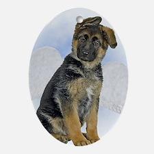 Angel German Shepherd Puppy Oval Ornament