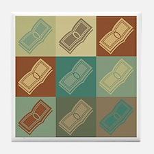 Payroll Pop Art Tile Coaster