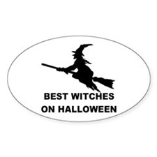 BEST WITCHES Oval Decal