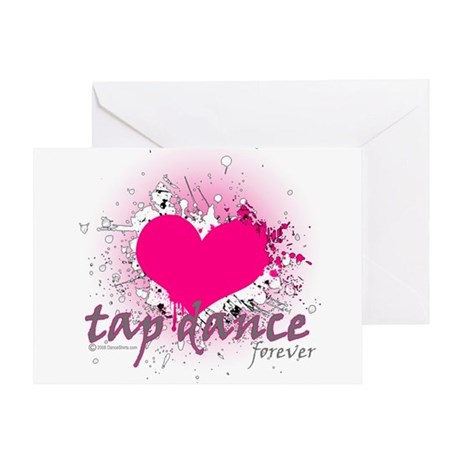 Love Tap Dance Forever Greeting Card