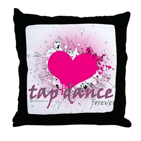 Love Tap Dance Forever Throw Pillow