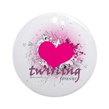 Love Twirling Forever Ornament (Round)