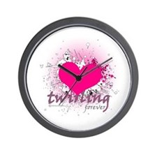 Love Twirling Forever Wall Clock