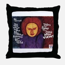 Be Yourself poem Throw Pillow