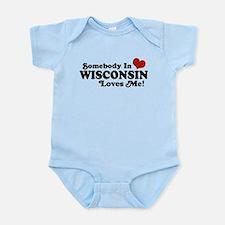 Somebody In Wisconsin Loves Me Infant Bodysuit