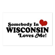 Somebody In Wisconsin Loves Me Postcards (Package