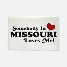 Somebody In Missouri Loves Me Rectangle Magnet